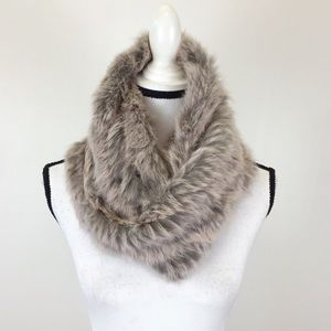 Jocelyn Rabbit Fur Infinity Loop Scarf